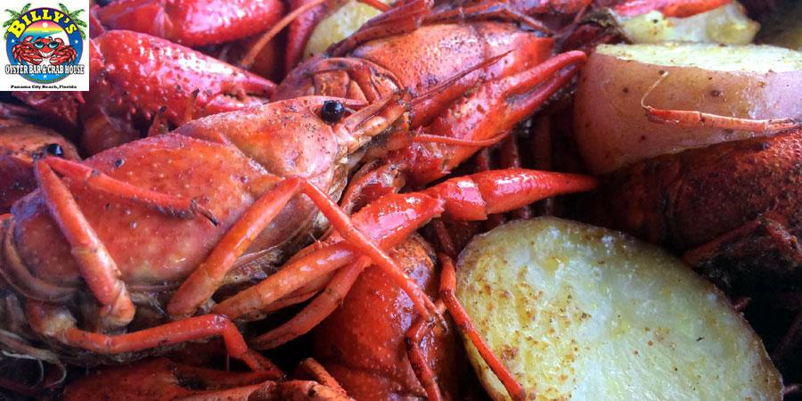 Panama City Beach Seafood Restaurant Billy S Oyster Bar And Crab House Menu